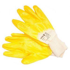 Rukavice pracovní bavlna nitril žluté decf4843c9