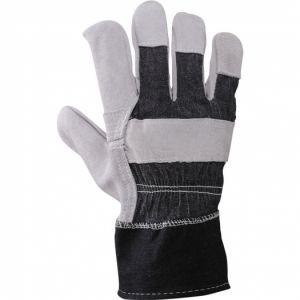Pracovní rukavice z hovězí kůže a džínoviny cb5c319ab8