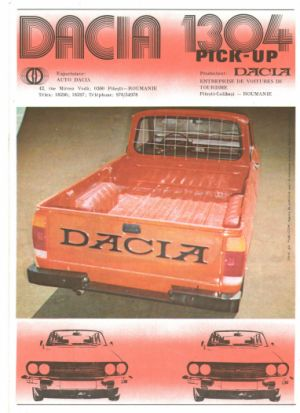 Prospekt dacia 1210,1310,1410,1300 ambulance,1304 pick-up